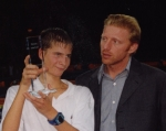 young florian mayer with boris becker